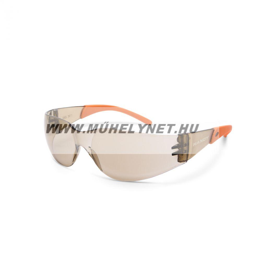 Védő szemüveg UV védelemmel barna