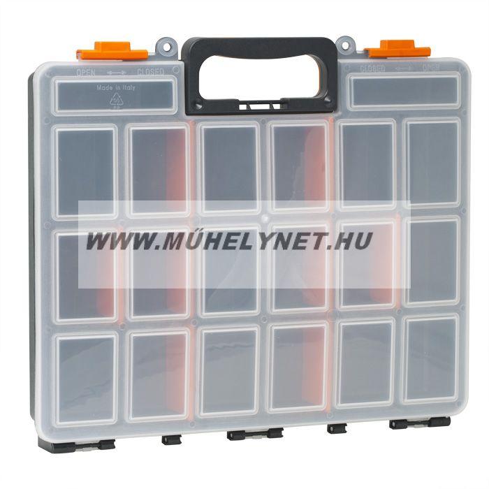 HANDY szortimenter 16 rekeszes tároló doboz 380x330x60 mm