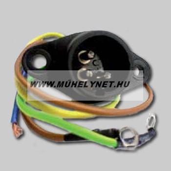 Csörlő vezetékes vezérlő csatlakozó aljzat hosszú bekötéssel