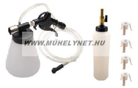 Féklégtelenítő sűrített levegős vákumképzéssel + feltöltő tartály a készletben