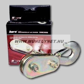 Kötél fordító csiga csörlőhöz, HORN 3000-es biztonsági horoggal