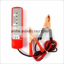 Akkumulátor / töltés töltöttség ellenőrző műszer