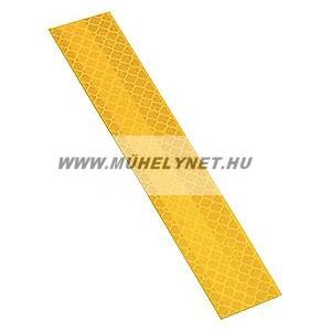 Fényvisszaverő öntapadós matrica sárga színben, 5x30 cm