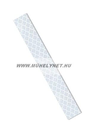 Fényvisszaverő öntapadós matrica fehér színben, 5x30 cm
