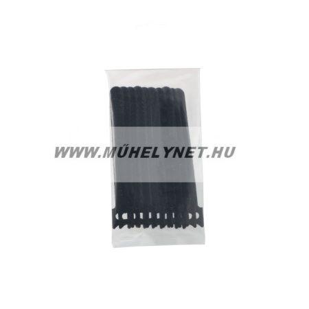 tépőzáras kábel kötegelő 150x12 mm fekete