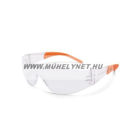 Védő szemüveg UV védelemmel, víztiszta
