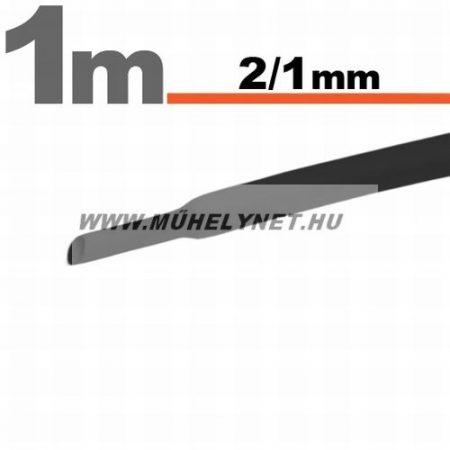 zsugorcső 2/1 mm fekete 1 m/db