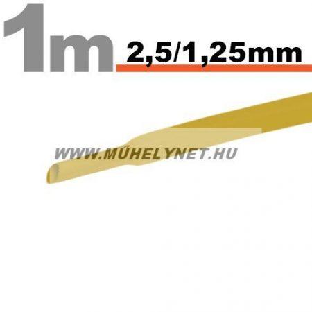 zsugorcső 2,5/1,25 mm sárga 1 m/db