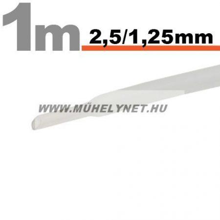 zsugorcső 2,5/1,25 mm transzparens 1 m/db