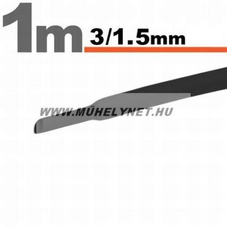 zsugorcső 3/1,75 mm fekete 1 m/db