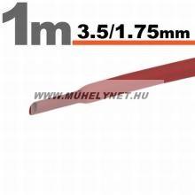 zsugorcső 3,5/1,75 mm piros 1 m/db