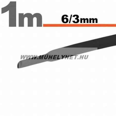 zsugorcső 6/3 mm fekete 1 m/db
