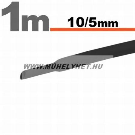 zsugorcső 10/5 mm fekete 1 m/db