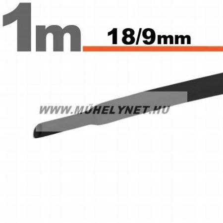 zsugorcső 18/9 mm fekete 1 m/db