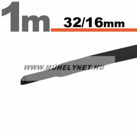 zsugorcső 32/16 mm fekete 1 m/db