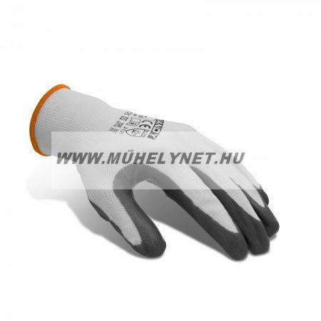 Kötött kesztyű nitril tenyérrel XL méretű
