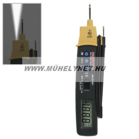 digitális multiméter ceruza maxwell dc0,1mv-600v, ac1mv-600v,10mikroa-200ma