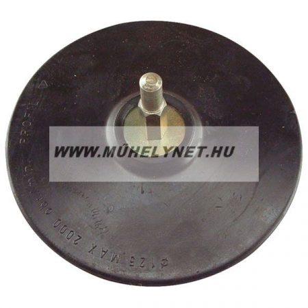 Gumitányér fúrógéphez tépőzáras  125 mm