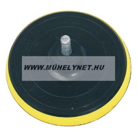 Gumitányér fúrógéphez tépőzáras szivacsos 125 mm
