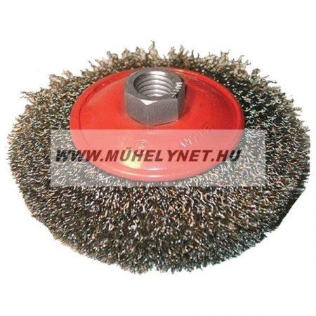 Drótkefe sarokcsiszolóhoz tányér M14-100 mm