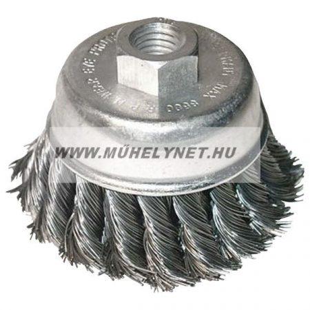 Drótkorong flexhez 80 mm fazék ezüst két soros