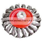 Drótkorong kúpos sodrott sarokcsiszolóhoz 100 mm