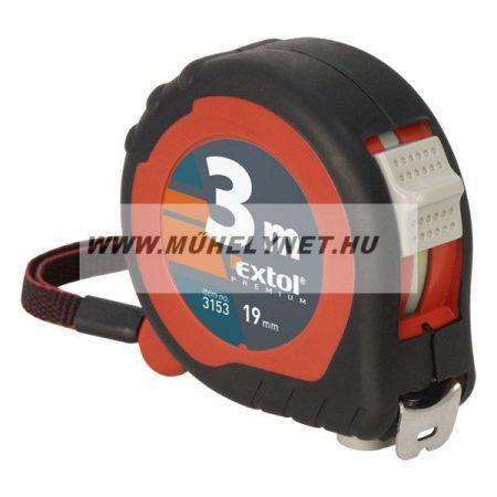 Mérőszalag acél 3mX19mm 2 stoppos