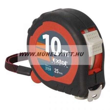 Mérőszalag acél 10mX25mm 2 stoppos