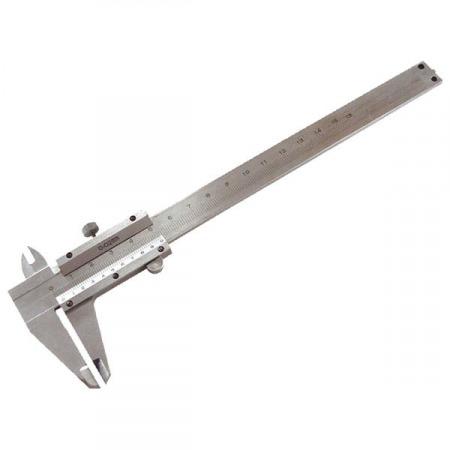 Tolómérő INOX (mélységmérővel) ; 0,05×150mm