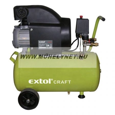 Kompresszor Extol Craft 24 liter, 200l/perc, 8 bar