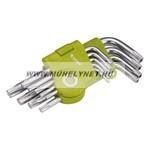 Torx kulcs készlet rövid , 9 db-os  T10-T50