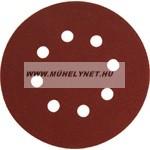 Tépőzáras csiszolókorong 125mm p150, 10 db-os készletben