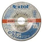 csiszolókorong 115x6 mm fémhez Extol prémium