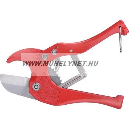 Csővágó olló PVC és műanyag fűtés csövekhez 0-42mm