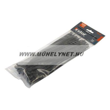 Kábel kötegelő 3,6 x 200 fekete