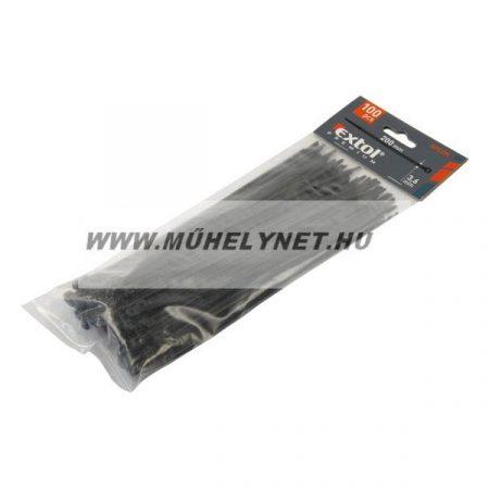 kábel kötegelő 500x4,8 mm fekete