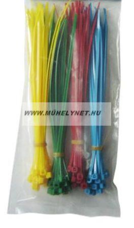 Kábel kötegelő színes 200x3,6 mm 4 színű csomag