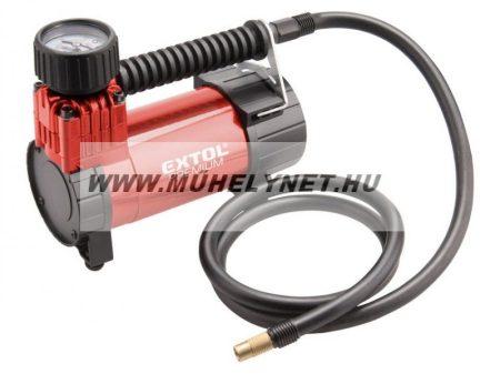 Kompresszor kerékfújáshoz 12 V Extol Prémium olajmentes kivitel 6,9 bar