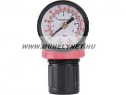 Reduktor levegő nyomásszabályzó mérőórával 8 bar max.