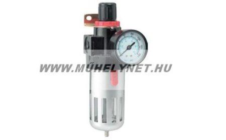 Reduktor vízleválasztóval nyomásmérő órával Extol prémium