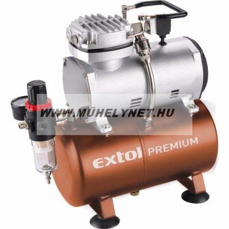 Kompresszor olajmentes air brush munkákhoz Extol Prémium