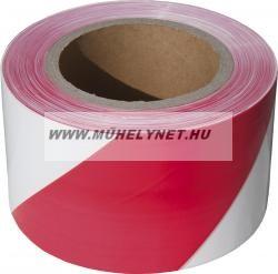 Jelölő szalag piros-fehér 75 mm x 250 m