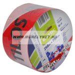 Jelölő szalag piros-fehér 75 mm x 250 m belépni tilos felirattal