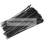 Kábel kötegelő 4,8 x 250 mm fekete Extol Craft