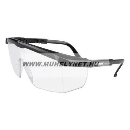 Védőszemüveg víztiszta polikarbonát állítható szárú