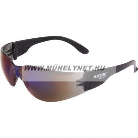 Védő szemüveg kék foncsorozott polikarbonát Extol Craft