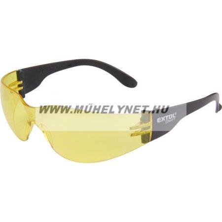 Védő szemüveg sárga polikarbonát Extol Craft