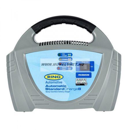 RING 12v digit automata akkumulátor töltő 8A