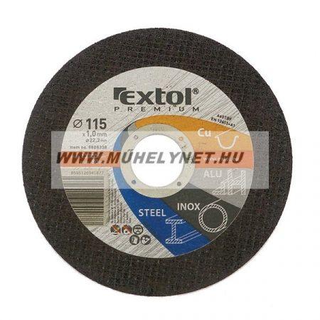 Vágókorong Fe, Inox, Al, Cu, extol prémium 125mm