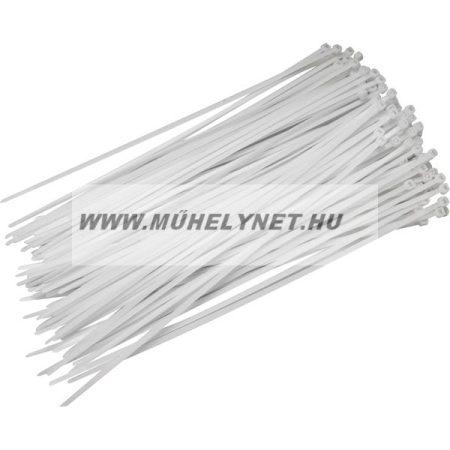 Kábel kötegelő 4,8 x 250 mm fehér Extol Craft